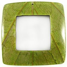 Coco back square w/ Cab-Caban leaf wholesale pendants