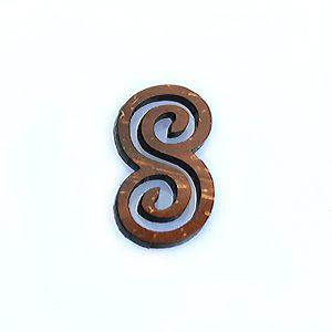 Laser cut brown coco infinity pendant wholesale