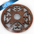 Lasercut lacquered brown coco pendant wholesale