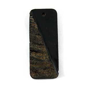 Rectangular burnt horn w/ skin wholesale pendants