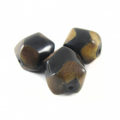 Burnt horn faceted round wholesale