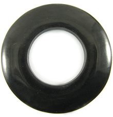 Black horn donut 60mm wholesale pendants