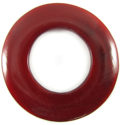 Red horn 60mm donut wholesale pendants