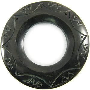 Blk horn 60mm ring w/33mm hole wholesale pendants