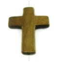 Burnt horn cross wholesale pendants