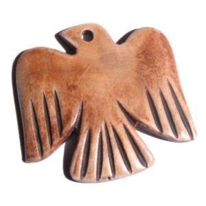 Burnt horn eagle design wholesale pendants