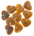 Golden horn medium heart wholesale beads