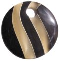 Round horn with grey inlay wholesale pendants