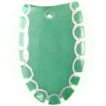 Green shell dyed green top cut wholesale pendant