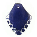 Shell dyed violet arrowhead wholesale pendants