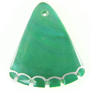 Green shell dyed green wedge wholesale pendants