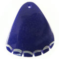 Green shell dyed violet wedge wholesale pendants