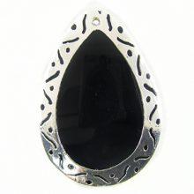 tab teardrop 30x45 carved silver wholesale pendants
