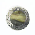 blacklp 30mm round in carved silver wholesale pendants