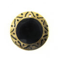 tab 30mm round in carved gold wholesale pendants