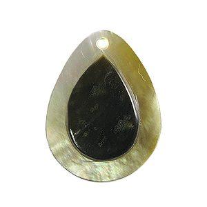Blacklip drop embossed 20mm wholesale pendant