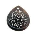 blackpen carved teardrop w/3mm wholesale pendant