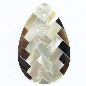 troca / tab teardrop 39mm weave design wholesale pendant