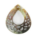 blacklip carved teardrop w/center hole wholesale pendant
