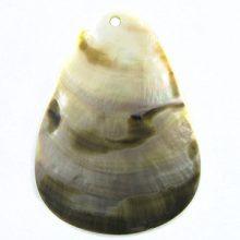 Blacklip teardrop spotted moon wholesale pendant