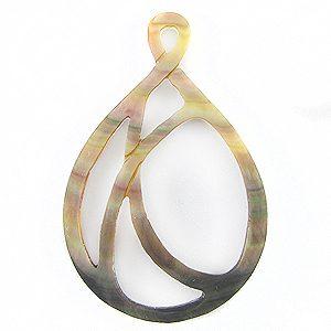 blacklip shell carved teardrop pendant wholesale pendant
