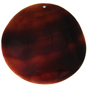 Black tab shell 100mm round wholesale pendant