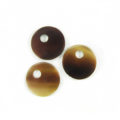 Tab shell 13mm round top hole 3mm wholesale pendant