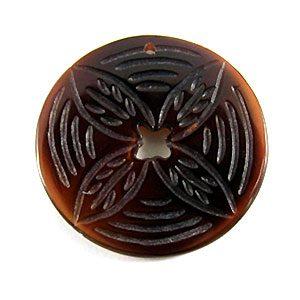 blackpen Etched flower round 25mm wholesale pendant