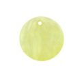 hammer shell 25mm round light yellow wholesale pendant