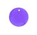 hammer shell 25mm round purple wholesale pendant