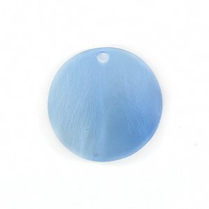 Silver Blue Round Hammer shell Beads 25mm