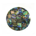 Paua black blocking 30mm wholesale pendant