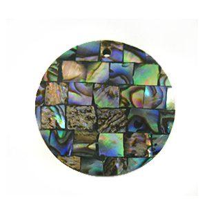 Paua black blocking 30mm wholesale pendant