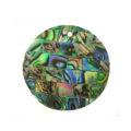 Paua green blocking 30mm wholesale pendant