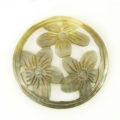 Blacklip round carved 3-set flower 35mm wholesale pendant