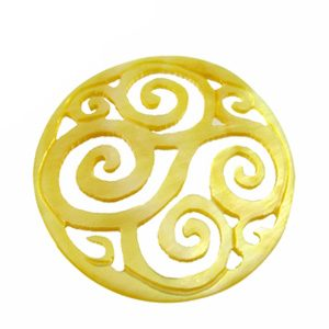 MOP round carved swirl 35mm wholesale