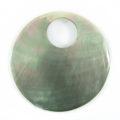 Black lip round w/ Lg. hole wholesale pendant