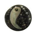 40mm round blacklip embossed wholesale pendant