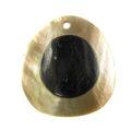 Brownlip round 40mm embossed wholesale pendant