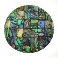 Paua black blocking 40mm wholesale pendant