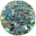 Paua blue blocking 40mm wholesale pendant