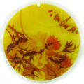River shell decal print 40x40x2mm flower
