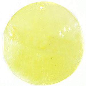 Capiz shell light yellow 46mm wholesale pendant