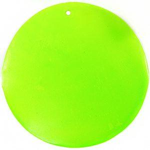 Capiz shell neon green 46mm wholesale pendant