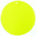 Capiz shell neon yellow 46mm wholesale pendant