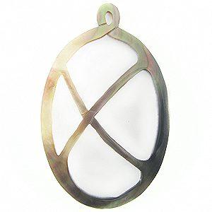 blacklip shell carved oval pendant wholesale