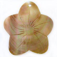 Brownlip flower design large wholesale pendant