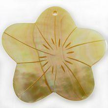 MOP flower design large wholesale pendant