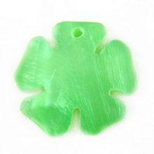 Hammershell green flower wholesale pendant