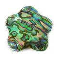 Paua shell flower 30mm wholesale pendant